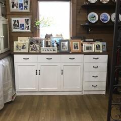 ミッチャクロン/下地処理/ペンキ塗り/収納/DIY/食器棚 15年前に中古で購入した食器棚の下部分。…