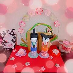 ひな祭り/雛人形/いがまんじゅう/デイサービス/苺ケーキ/苺プリン/... ひな祭り🎎🍡🌸 先日、母がデイサービスに…(1枚目)