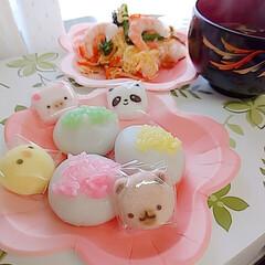 ひな祭り/雛人形/いがまんじゅう/デイサービス/苺ケーキ/苺プリン/... ひな祭り🎎🍡🌸 先日、母がデイサービスに…(5枚目)