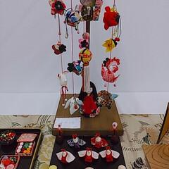 きれい/吊るし飾り/山形県/雛飾り/雛祭り 吊るし雛飾り~綺麗😍 電気屋の奥の方に山…(3枚目)