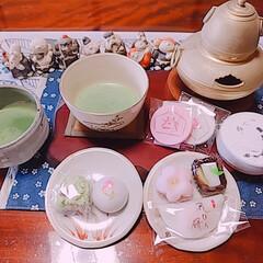 抹茶/正月花/バターチキンカレー/レンチンレシピ/アイスクリーム 初釜お茶会…?毎年恒例になっているお正月…