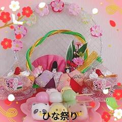 ひな祭り/雛人形/いがまんじゅう/デイサービス/苺ケーキ/苺プリン/... ひな祭り🎎🍡🌸 先日、母がデイサービスに…(2枚目)
