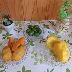 「秋の果物達と景色≈**🍃 ①家の近くの道…」(2枚目)