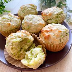 カップケーキ/枝豆/おやつ 枝豆たっぷりカップケーキ! 枝豆の甘みと…