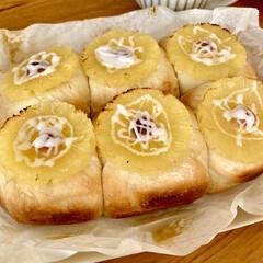 ちぎりパン/パン作り/焼き立てパン/おうちパン 週末に息子が焼いてくれた【パイナップルと…(2枚目)
