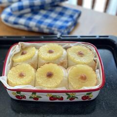 ちぎりパン/パン作り/焼き立てパン/おうちパン 週末に息子が焼いてくれた【パイナップルと…