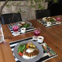 カフェ風/おうちカフェ/おうちごはん/おウチカフェ/植物のある暮らし/IKEA/... おもてなしランチ
