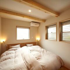 注文住宅/住まい/インテリア/不動産・住宅/一級建築士事務所 木の質感が落ち着く主寝室