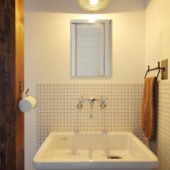 滋賀注文住宅/注文住宅/一戸建て/不動産・住宅/住宅設備/住まい/... 玄関すぐ横に設置した手洗いスペース。手洗…