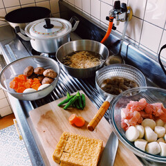 味楽 アルミ雪平鍋 18cm 煮物・下ごしらえに(雪平鍋)を使ったクチコミ「𖧷午前中に𖧷  煮物やカレーやビーフシチ…」