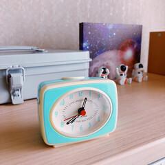 時計/キッカーランド/目覚まし時計/インテリア/おしゃれ/購入品 𖧷目覚まし時計𖧷 𓍊 朝もだいぶん涼しく…