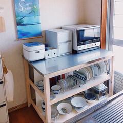ジャー炊飯器 備長炭 炭炊釜 NJ-VEA10-W | 三菱電機(炊飯器)を使ったクチコミ「𖧷キッチンを整える𖧷  お弁当を作り終え…」