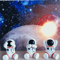 可愛い/宇宙飛行士/雑貨/インテリア/100均/ダイソー 𖧷宇宙飛行士くん𖧷  先日𓂃 ダイソーで…