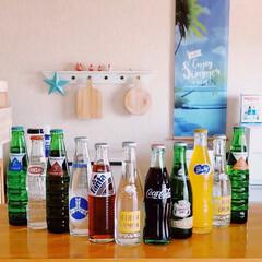 ファンタグレープジュース/コカコーラ/キリンレモン/瓶ジュース/昭和レトロ/インテリア 𖧷レトロ瓶ジュース𖧷  キリンレモンの瓶…