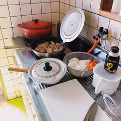 焼酎/黒豚/味噌煮/料理/とんこつ味噌煮/夕ご飯 𖧷午前中からコトコト𖧷  久しぶりの投稿…