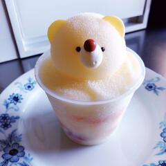 しろくま/フローズンアイス/かき氷/おやつ/おうちカフェ 𖧷可愛いおやつ𖧷  今日も異常な暑さです…