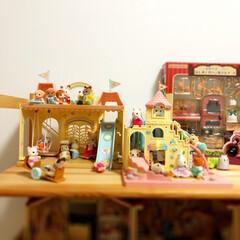 5歳/子供部屋/娘の部屋/シルバニア/シルバニアファミリー/おもちゃの部屋 今日は夜ご飯楽チンdayにしたので、娘と…
