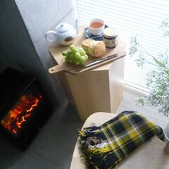 暖炉/電気暖炉/おしゃれ/建築/建築家/インテリア 暖炉のある暮らし。 エアコン、床暖房だけ…