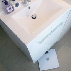 洗面所/テラス/おしゃれ/建築/建築家/インテリア/... テラスに面した明るく清潔なラバトリー。 …