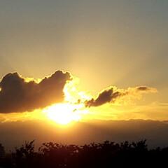 夕日 🌴🌺⛱🌼🍂🍁🌾  これは昨日の夕日🌇🌅(3枚目)