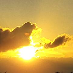 夕日 🌴🌺⛱🌼🍂🍁🌾  これは昨日の夕日🌇🌅(2枚目)