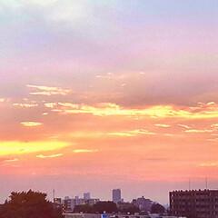 空/夕やけ 🌴🌺🍧SUMMER🍧🌺🌴  今日の夕やけ…