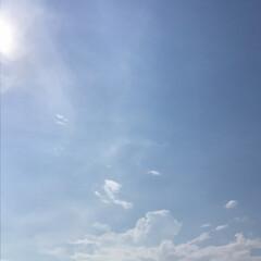 猛暑日/快晴/青空/空 我が家から見える快晴の青空。 暑いけど、…