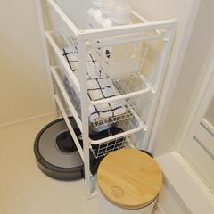 ルンバ/IKEA/脱衣所収納/生活の知恵/収納/掃除/... \我が家の脱衣所収入をご紹介/  IKE…