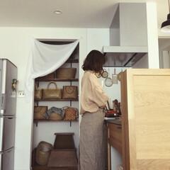 台所道具/台所/キッチン/やちむん/リネン/市場籠/... 台所に立つ時。。 必ず着用する、エプロン…