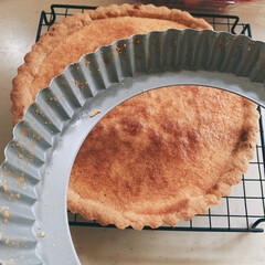 貝印 KHSタルト型 18cm /DL-6151 シルバー/18cm底取式 | 貝印(その他製菓、製パン用品)を使ったクチコミ「いちごタルトでおうちカフェ🍓  春が近づ…」(4枚目)