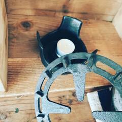 パール金属 HB-3928 スプラウト 鉄鋳物製 ミニ五徳   パール金属(グリルパン)を使ったクチコミ「サイフォンコーヒーでおうちカフェ☕️  …」(4枚目)