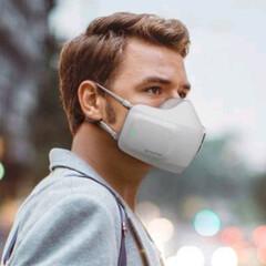 マスク/ウェアラブル/空気清浄機/LG/PuriCare Wearable... マスクじゃなくてウェアラブル空気清浄機 …(1枚目)