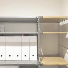 オーダーシェルフ/無印良品収納/無印良品/納戸収納/サービスルーム収納/納戸活用方法/... 無印良品のオーダーシェルフで納戸の端から…