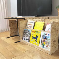 DIY/絵本棚/本棚DIY/構造用パネル 構造用パネルで見せる収納本棚を作りました…