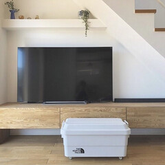 ポリプロピレン頑丈収納ボックス・小 約幅40.5×奥行39×高さ37cm | 無印良品(その他オフィス収納)を使ったクチコミ「無印良品の頑丈収納ボックスにキャスターを…」(1枚目)