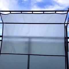 雨の日洗濯/雨の日洗濯干す/雨よけシート 朝晴れていても、天気がコロコロ変わる季節…