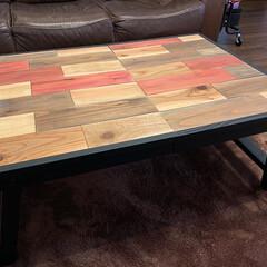 テーブル/折りたたみテーブル/DIY/テーブルDIY 折り畳みテーブルを作りました👌