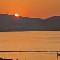 「 夕陽が没む寸前に屋上テラスへ 、セーフ…」(1枚目)
