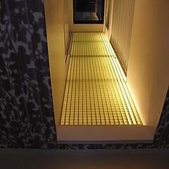 FRPグレーチング FRPグレーチングでできた廊下は夜はこん…