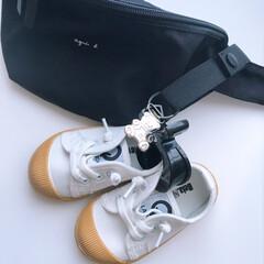 ベビーコーデ/キッズコーデ/スニーカーコーデ/出産祝い/ベビー用品/キッズ用品/... どんなバッグにも馴染む シンプルで便利…(4枚目)