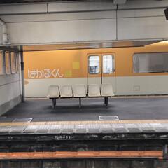 仕事先の駅で/近鉄ドクターイエロー こんにちは😃 今日仕事帰りに駅に入ると …(1枚目)