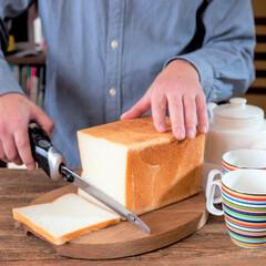クイジナート/cuisinart/クイジナートのある生活/クイジナートLOVE/クイジナート電動ナイフ/おうちカフェ/... \まるでパン職人の技🍞電動ナイフ✨/ …