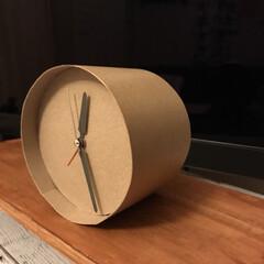 ハンドメイド/雑貨/DIY/カフェ風/デスク周り/パソコンデスク 時計をリメイク。元の時計は思い出の写真付…