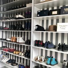 土間玄関/土間/間取り/シューズクローゼット/リノベーション/モノトーン/... お気に入りのシューズクローゼット☺︎ 靴…