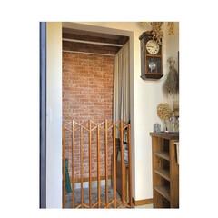 玄関/DIY/ナチュラル/シューズクローク/間取り/レンガ壁紙/... 玄関のシューズクローク 犬を飼っている我…