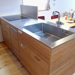 オリジナルキッチン/オープンキッチン 部屋の広さに合わせて特注で作ったオリジナ…