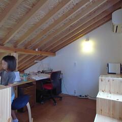 子供室/ロフト/外断熱 3階のロフト部分に設けられた子供室。 急…