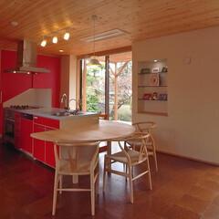 アイランドキッチン/オリジナルキッチン/テーブル 家族が、友人たちが、キッチンを囲んで楽し…