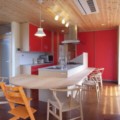 アイランドキッチン/オリジナルキッチン みんなでキッチンを囲んで楽しめるように、…