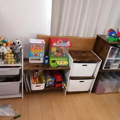 リビング/子供部屋/ニトリ/収納 初投稿です。 ニトリのカラボにハマってま…(2枚目)